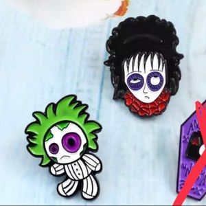 Jewelry - Beetlejuice doll and Lydia pins
